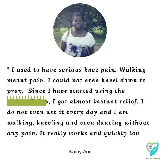 Customer Testimonial about joint pain relief